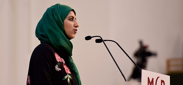 Erste Frau an der Spitze des Britischen Islamrates - Zara Mohammed ©Facebook, bearbeitet by iQ