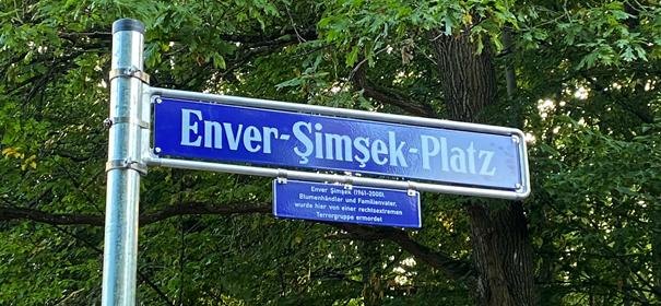 Enver-Şimşek-Platz in Nürnberg © Bild: Sven Heublein / Stadt Nürnberg, bearbeitet by iQ.