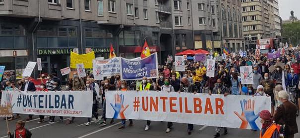 #unteilbar Demo in Berlin © Facebook, bearbeitet by iQ.